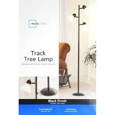 Mainstays Floor Lamp Manual by Mainstays 64 U0027 U0027 Track Tree Floor Lamp Black Walmart Com