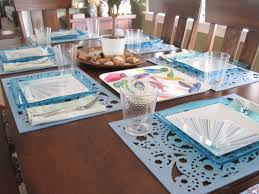 Fascinating Accessories For Dining Room Decoration With Cheap Table Setting Interesting Blue