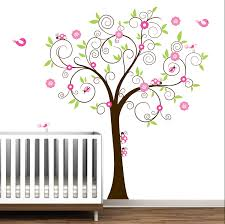 Tree Wall Decor Baby Nursery by Tree With Ladybugs Decal Set Kids Baby Nursery Wall