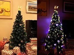 6 FT PRE LIT MULTI COLOR LED LIGHTS FIBER OPTIC CHRISTMAS TREE WITH ANGEL