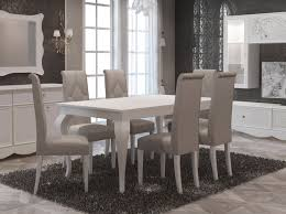 tischgruppe gaby mit 6 stühlen weiß