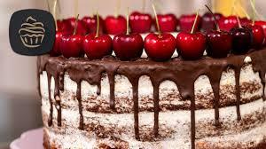 schoko kirsch torte cake mit mascarponecreme geburtstagstorte