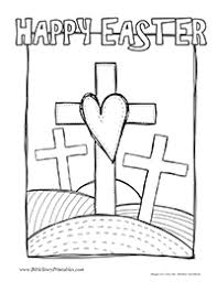 Easter Cross At Calvary Coloring Page