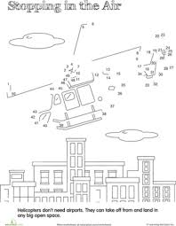 Coloring PageDot To Dot Vehicles Magnificent Hovering Helicopter Page