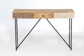 bureau bois bureau bois design beautiful console bois metal design