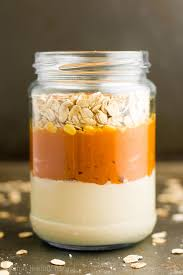 Pumpkin Mousse And Ginger Parfait by Pumpkin Spice Latte Protein Overnight Oats Amy U0027s Healthy Baking