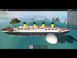roblox sinking ship simulator the titanic arrived youtube