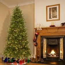 Half Christmas Tree Prelit Foot Lit Deluxe Artificial W Clear Bulbs Pre Slim 4