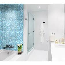 glass tile sheets for shower wall stickers blue and white blend