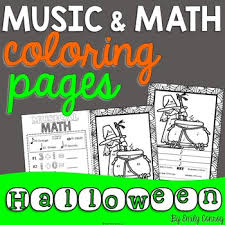Music Coloring Pages 16 Halloween Sheets