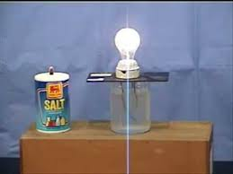 Who Invented The Salt Lamp by How To Make A Light Turn On With Salt And Water Youtube