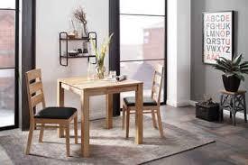 home affaire essgruppe soeren 1 set 3 tlg tisch 80 x 80 2 stühle polstersitz aus massivholz