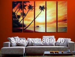 Free Shipping Sea Sunset Seascape Oil Painting Canvas Artwork High Quality Handmade Home Office Wall Art Decor Decoration Gift