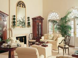 Campaign Style British Colonial Living Room