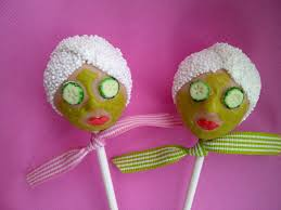 How Fun Are These Spa Themed Bridal Shower Cake Pops Bridalshower Cakepops