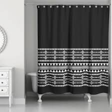 Bed Bath And Beyond Bathroom Curtain Rods by Buy Black And White Fabric Shower Curtains From Bed Bath U0026 Beyond