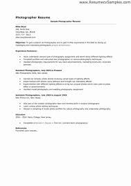 Photographer Resume Examples Stunning Graphy Cover Letter Request For Job Contract Extension