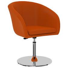 esszimmerstuhl orange kunstleder