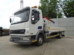 100 20 Ft Truck DAF TRUCKS FA LF45150 Turbo Fassai F50 Crane Ft Alloy Dropside