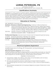 Sample Resumes For Professionals Electrical Engineering Resume Professional Engineer