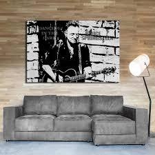 myartstyle bilder bruce springsteen band 115 x 75 cm leinwandbild wandbild 1 teilig gerahmter kunstdruck musik ws 2023 047