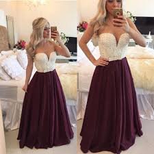 aliexpress com buy vestidos longos pearl burgundy long prom