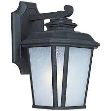 maxim radcliffe 11 1 4 h black oxide outdoor wall light 8m121