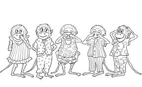 Click To See Printable Version Of Five Little Monkeys Jumping On The Bed Coloring Page
