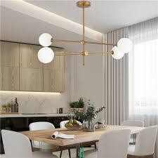 glas pendelleuchte kugel design in gold für wohnzimmer