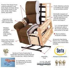 serta comfort lift chair full recliner chair lift and massage