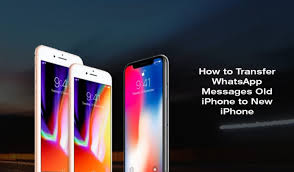 How to Transfer WhatsApp Messages to New iPhone X 8 8 Plus 7 7