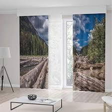 de tecbillion wohnzimmer vorhänge treibholz