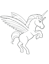 Unicorn With Wings Coloring Pages Pictures Of Unicorns To Color Books Medium Size Colouring Co
