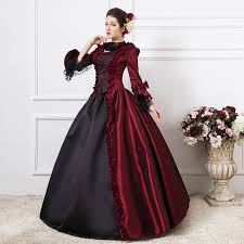 Free Shipping 1800s Victorian Dance Dress Burgundy Gothic Wedding Ball Gown Rococo Style Event In Holidays Costumes From Novelty Special