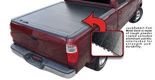 jackrabbit full metal retractable truck bed cover
