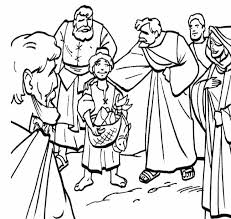 Jesus Feeds 5000 Coloring Pages Image Loaves And Fishes Page Education Pinterest