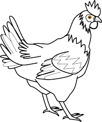 Chicken food clipart black and white free