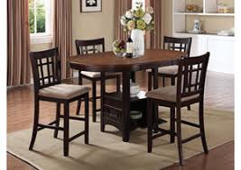 Lavon Espresso Counter Height Table W 4 Stools