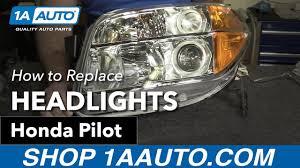 how to replace install headlights 07 honda pilot
