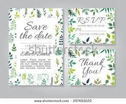 Vector Rustic Wedding Invitation Card Set 297693029
