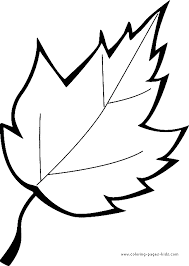 Simple Leaf Coloring Pages 01