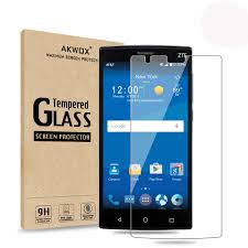 Amazoncom Pack Of 2 ZTE ZMax 2 Glass Screen Protector Akwox