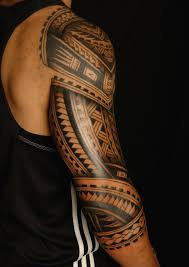 Full Back Sleeve Cool Samoan Polynesian Tribal Tattoo
