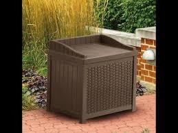Suncast 195 Gallon Deck Box Manual by Resin Wicker Storage Seat Suncast Ssw1200 Mocha Reviews Youtube