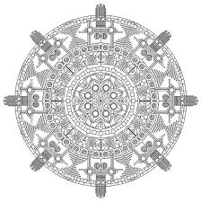 An Intricate Mandala Coloring Sheet