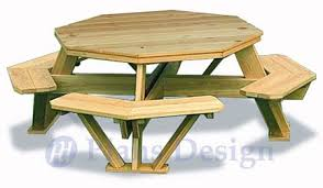 traditional octagon picnic table woodworking plans pattern