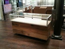 Reclaimed White Oak And Glass Jewelry Store Display Cases