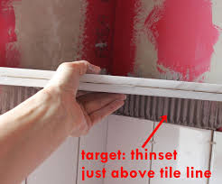 Tile Redi Niche Thinset by How To Install A Tile Shower Corner Shelf