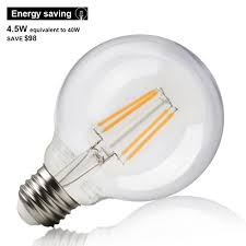 4 5w dimmable filament led g25 bulb torchstar