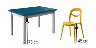 hauteur table de cuisine quelle hauteur de chaises et tabourets choisir en fonction de sa